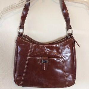 Aurielle brown genuine leather purse handbag
